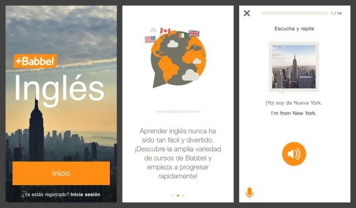 Apps para aprender ingles Babbel