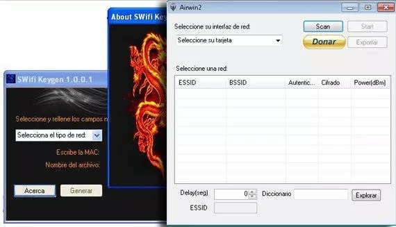 SWifi y Airwin para Windows