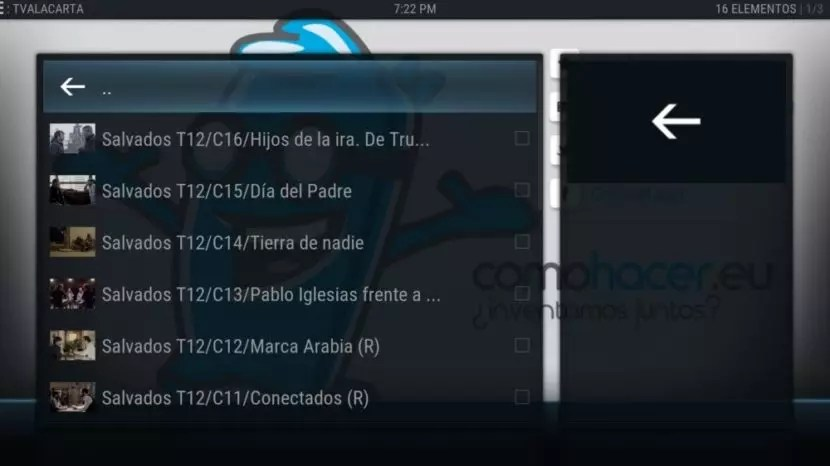 TV a la carta en Raspberry Pi