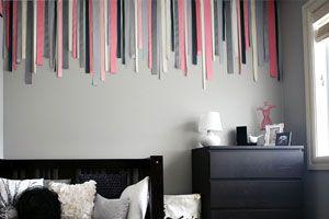 Cmo decorar una pared vaca con telas y cintas