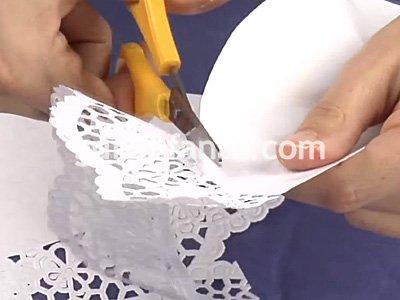 Abanico realizado con palitos de helado y blondas ideal para souvenirs  Como hacer Todo