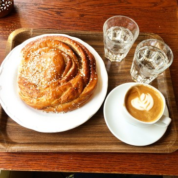 Giant cinnamon buns in Cafe Husaren in Haga in Gothenburg
