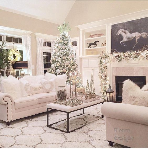 ideas for decorating your living room christmas brown cream and gold how to decorate the at a single range of colors entire as in this image above that predominates white details what do you think idea