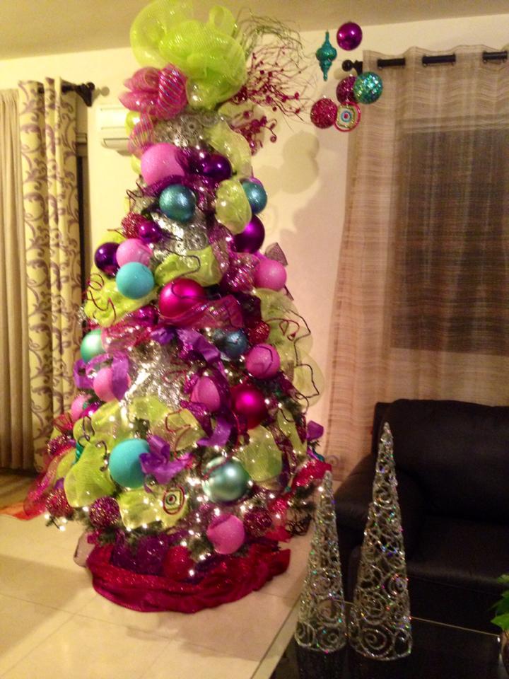arboles de navidad con malla decorativa  Curso de