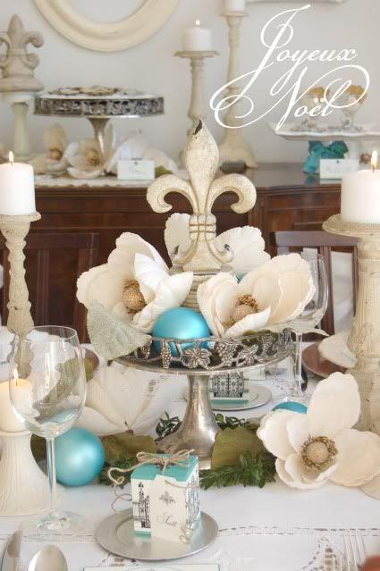 decoracionnavidadazulturqueza 13  Como Organizar la Casa  Fachadas  Decoracion de interiores  Ideas para Fiestas  Moda Mujeres de 40