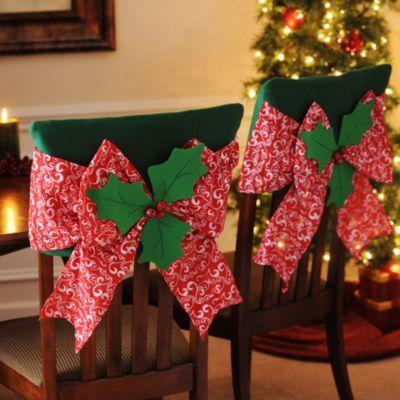 decoracionsillasnavidad 17  Como Organizar la Casa