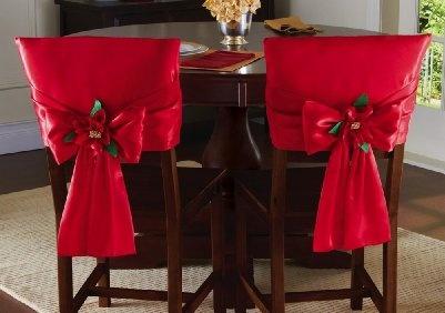 decoracionsillasnavidad 34  Como Organizar la Casa
