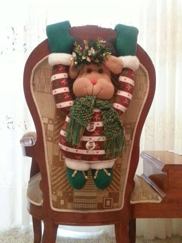 decoracionsillasnavidad 6  Como Organizar la Casa  Fachadas  Decoracion de interiores  Ideas para Fiestas  Moda Mujeres de 40 aos o mas