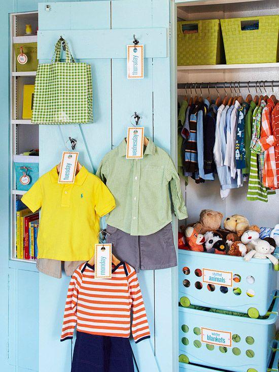 Como Organizar un Closet para Nio  Como Organizar la Casa  Fachadas  Decoracion de