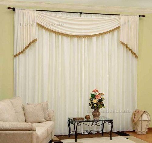 cortinasparasala 16  Decoracion de interiores Fachadas para casas como Organizar la casa
