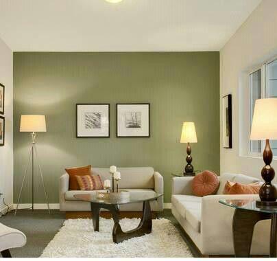 decoracion de salas color verde olivo 2  Como Organizar