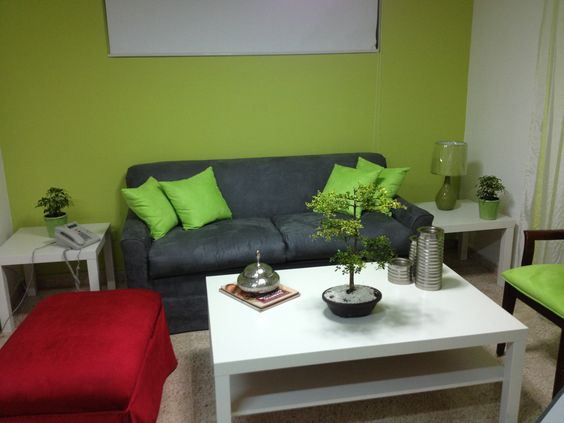 Ideas para decoracion color verde manzana  Como Organizar