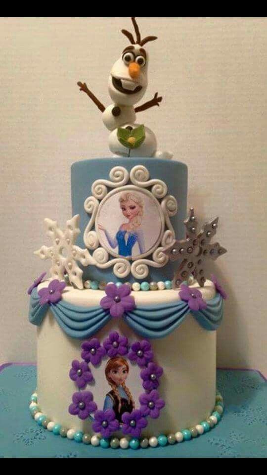 pasteles para fiestas cumpleanos de Frozen 13  Como