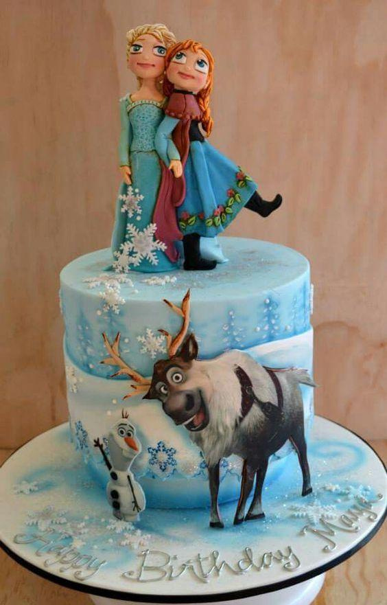 pasteles para fiestas cumpleanos de Frozen 2