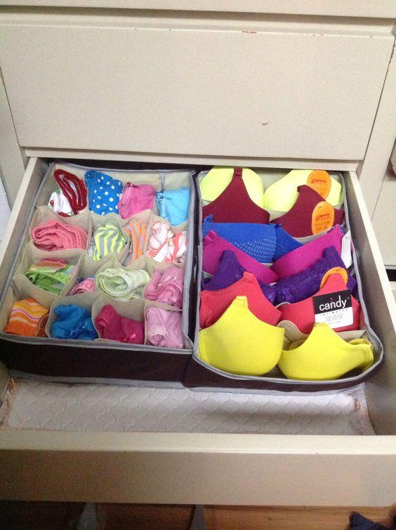 como organizar cajones de ropa 3  Como Organizar la