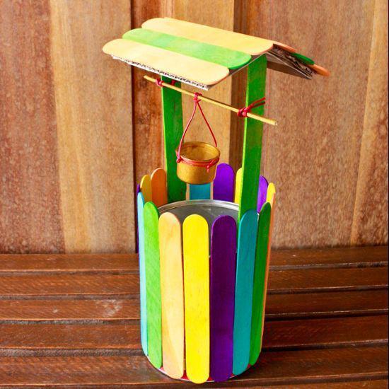 Manualidades con palitos de madera 8  Como Organizar la