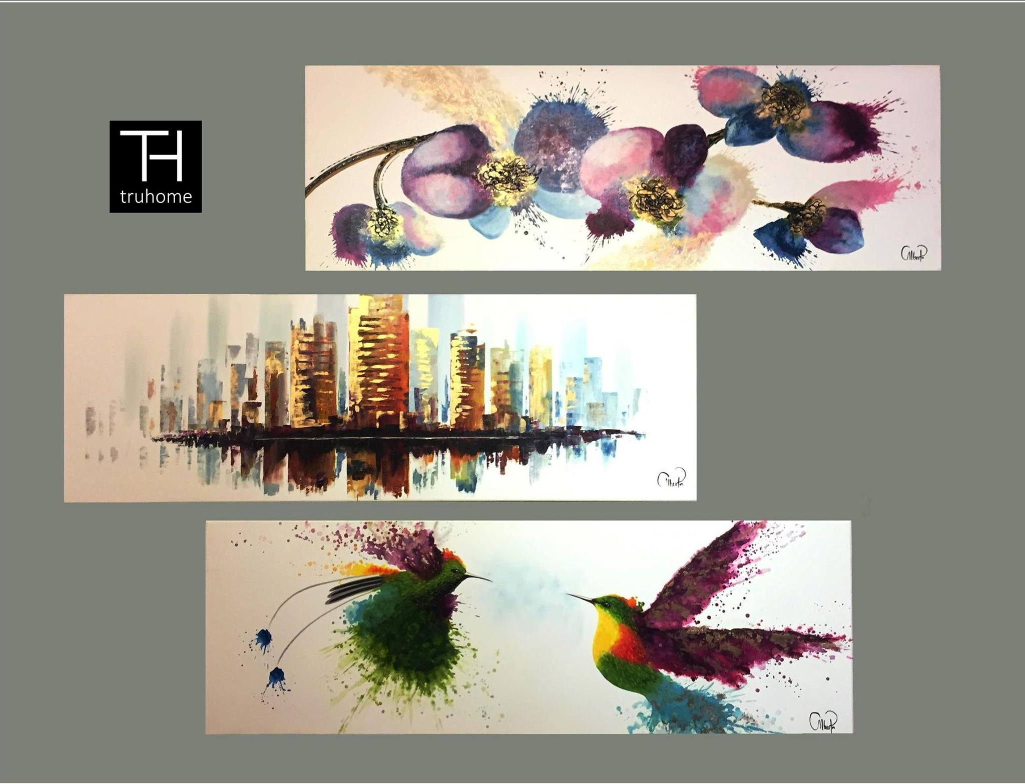 tendencias en decoracion con cuadros al oleo 15  Como