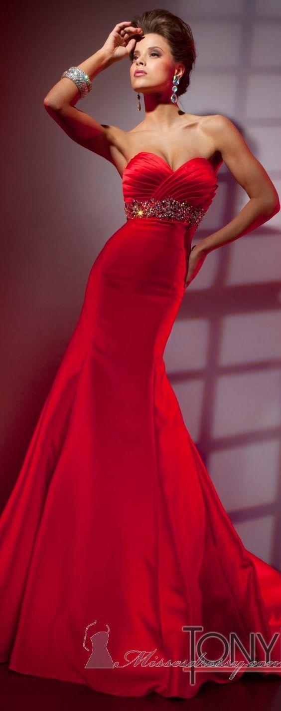 Vestidos de gala color rojo 15  Como Organizar la Casa