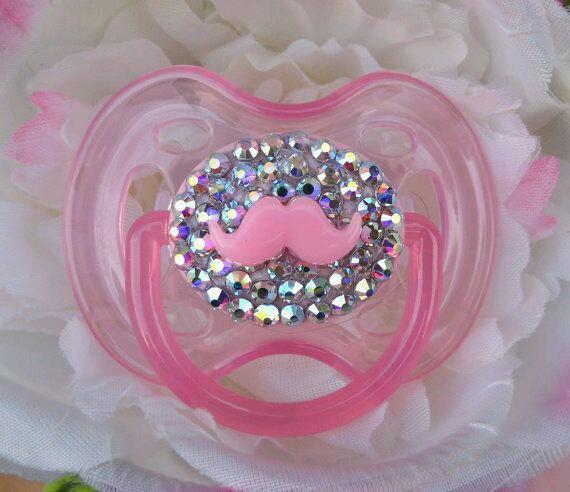 Chupones para bebes decorados con cristales 16  Como