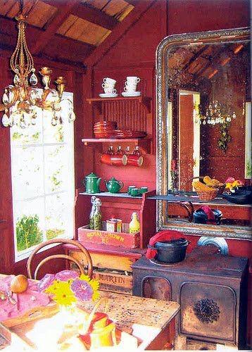 Decoracion hippie chic de cocinas 5  Como Organizar la Casa  Fachadas  Decoracion de interiores  Ideas para Fiestas  Moda Mujeres de 40