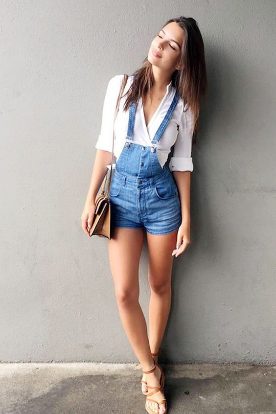 Outfits con overol short 22