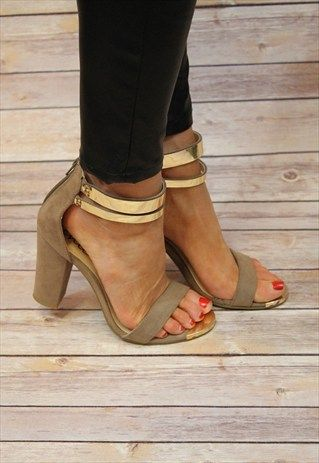 Zapatos de tacon grueso tendencia verano 2019 16  Como
