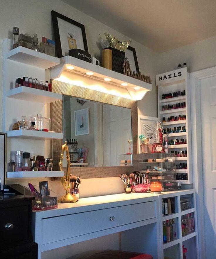 Muebles organizadores de maquillaje 3  Decoracion de interiores Fachadas para casas como
