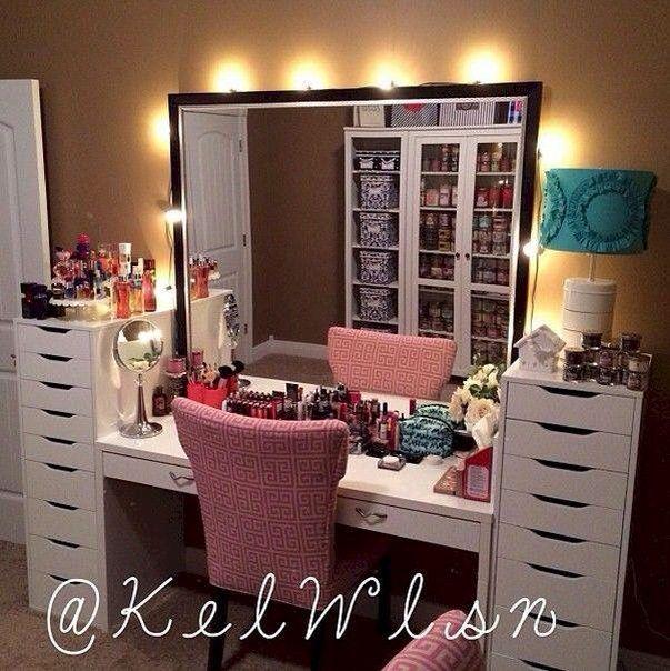 Muebles organizadores de maquillaje 32  Decoracion de