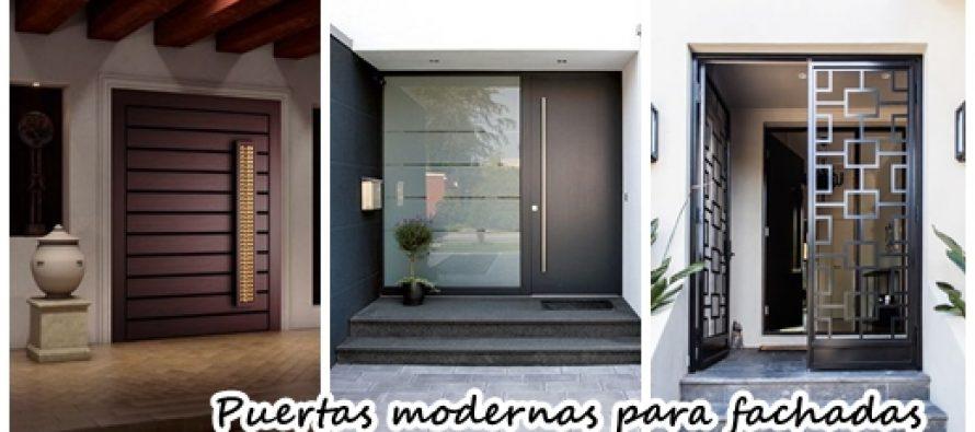 Modernos diseos para puertas de fachadas  Curso de