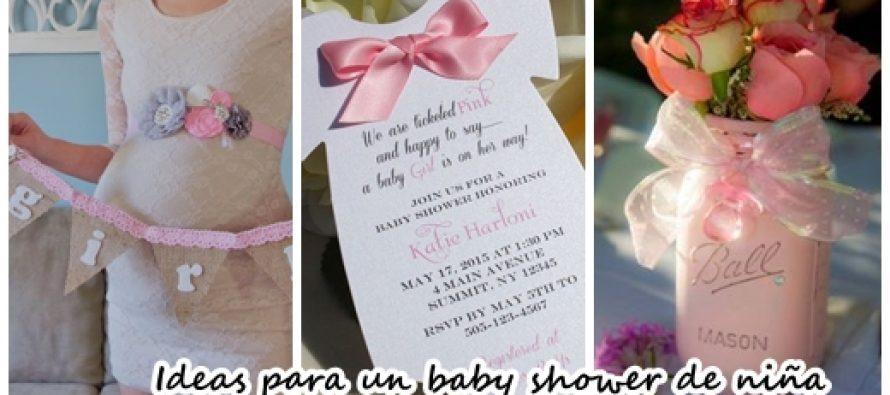 31 Ideas para organizar un baby shower para nia