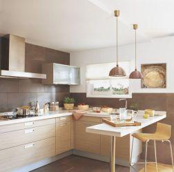 Diseños de cocinas pequeñas con barra Como Organizar la