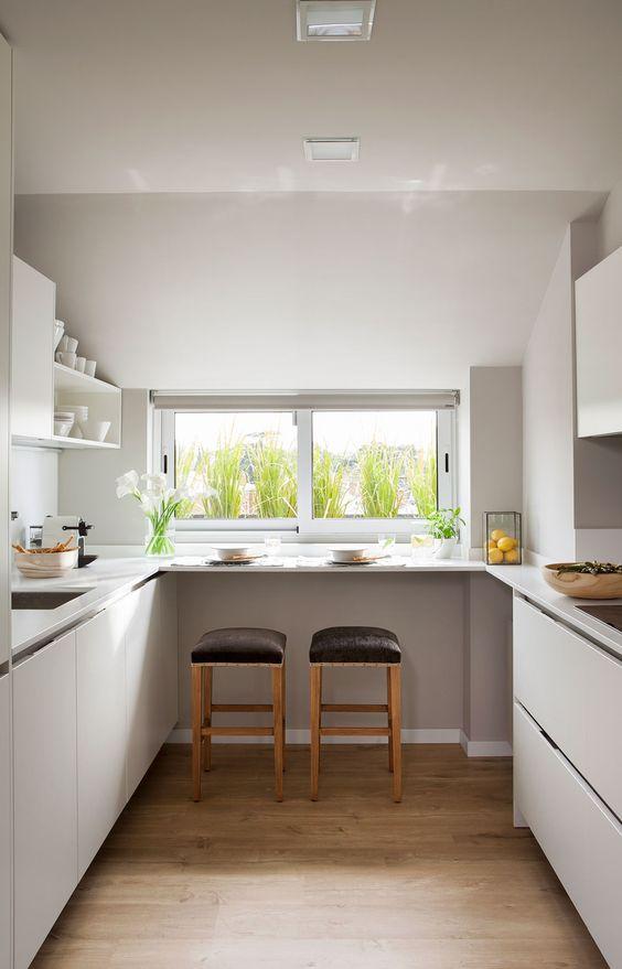 Diseos de cocinas pequeas con barra  Decoracion de