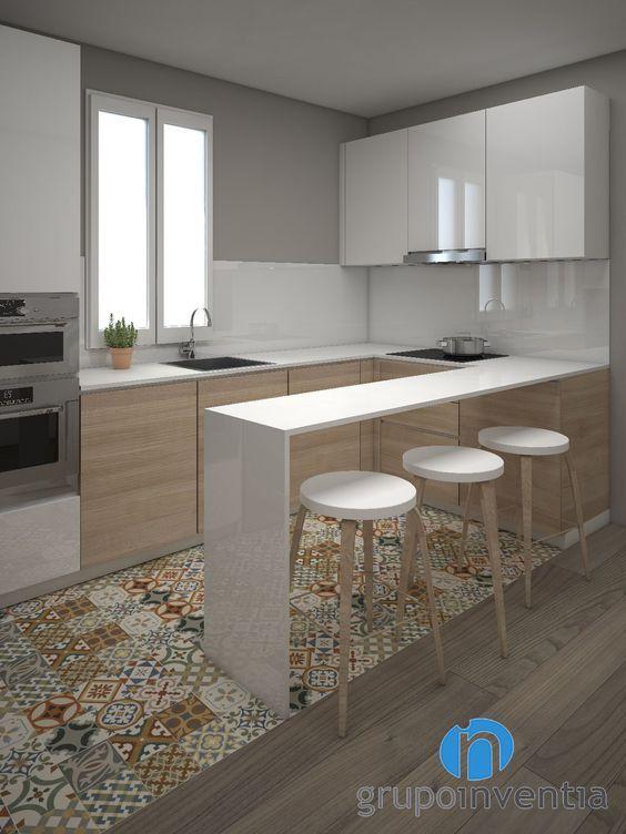 Cocinas pequeas  Grandes ideas para espacios reducidos
