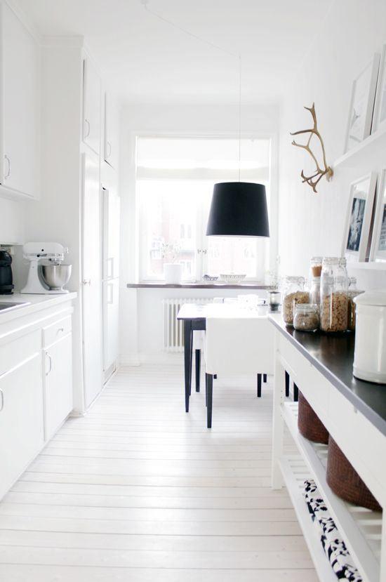 Decoracin de cocinas alargadas
