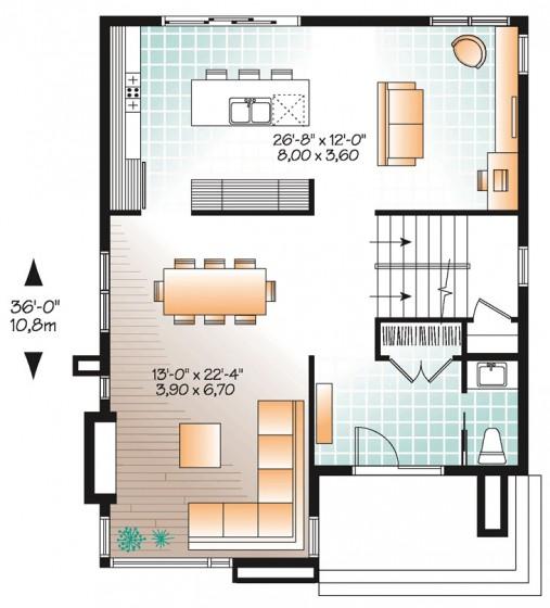 Ideas con Planos para Construir Casas Pequeas de 86 m2