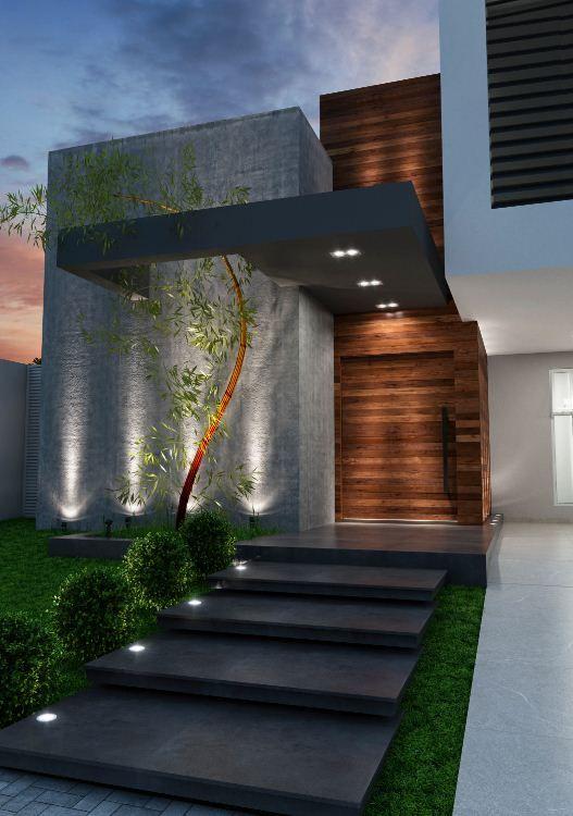 iluminacion de fachadas modernas  Decoracion de