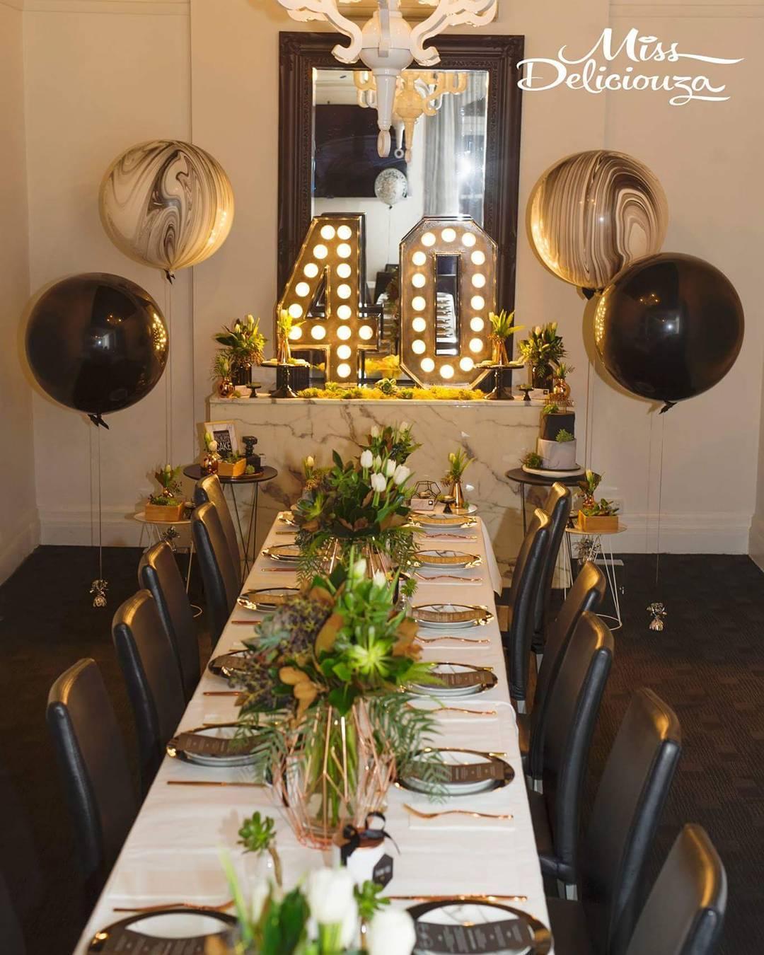 Ideas para decorar cumpleaos de 40 mujer  Como Organizar la Casa  Fachadas  Decoracion de interiores  Ideas para Fiestas  Moda Mujeres de