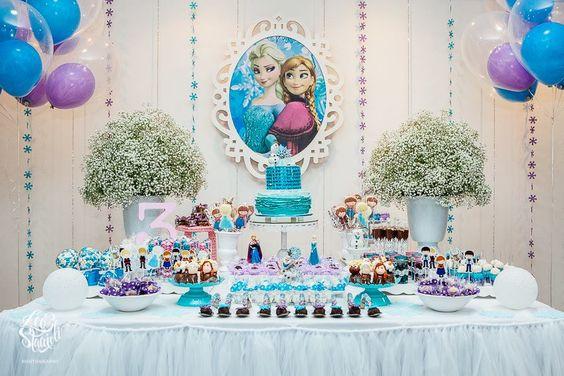 como decorar una fiesta de frozen  Como Organizar la Casa