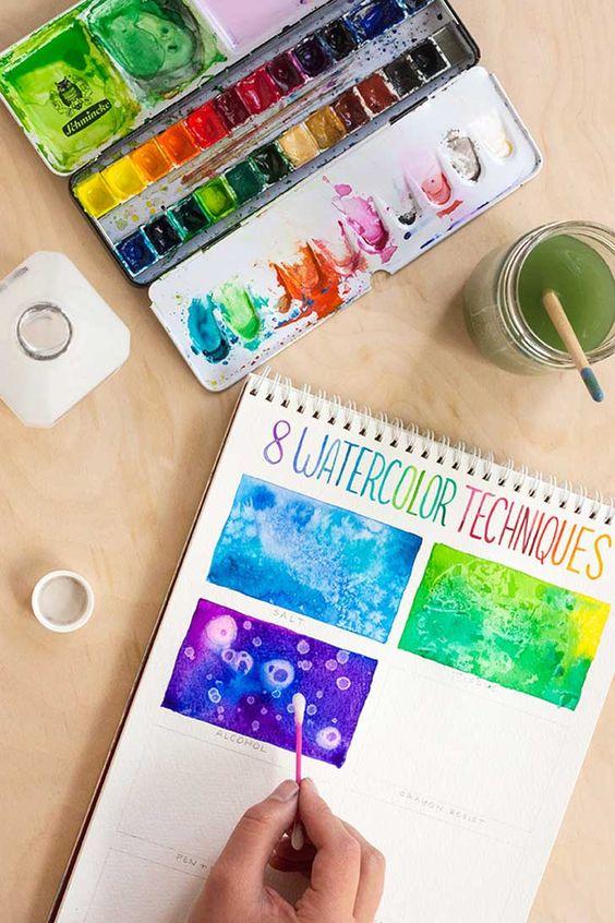 DIY Ideas para Pintar con Acuarelas