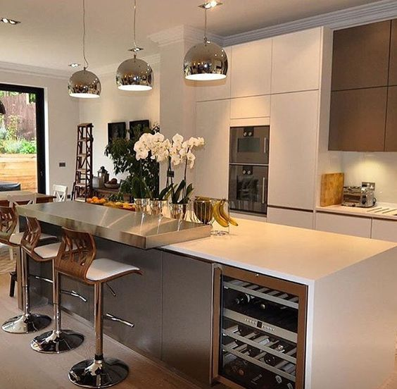 cocinas modernas 2019 2  Como Organizar la Casa