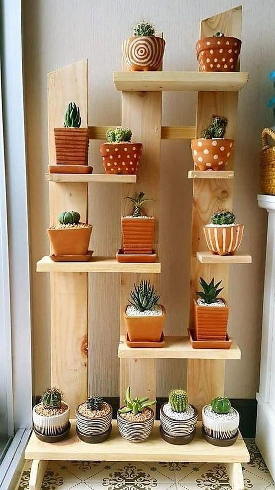 Estantes para macetas plantas  Decoracion de interiores