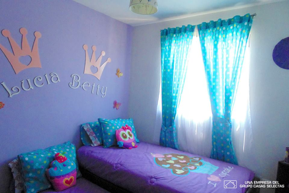 habitacion doble para nina casa infonavit  Como Organizar