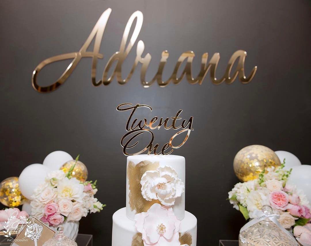 letrero modernos para pastel corte laser dorado 2  Como