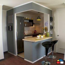 Cocinas pequeñas con barra Decoracion de interiores
