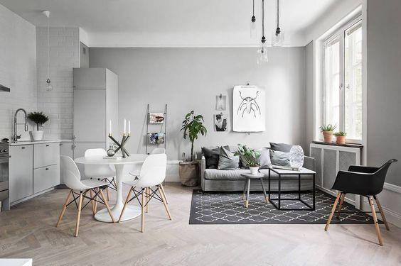 Decoracion minimalista sala comedor  Como Organizar la
