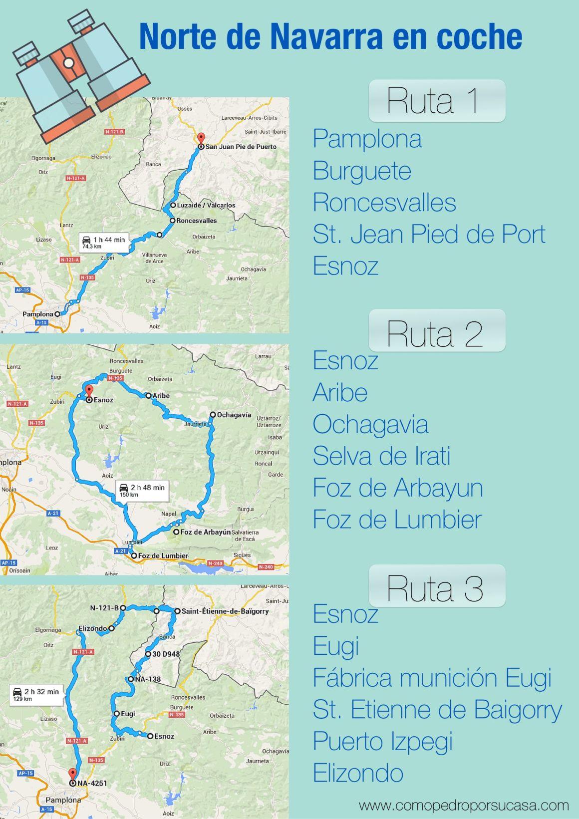 ruta tres dias en coche por navarra