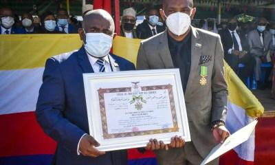 Amir Abdou, Amir Abdou, Chevalier de l'Ordre du Croissant Vert des Comores
