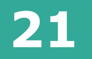 como se escribe 21