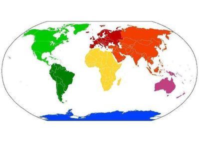 cuantos continentes hay
