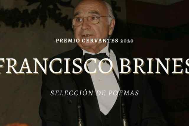 Francisco Brines. Premio Cervantes 2020. Algunos poemas